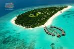 Мальдивы. Остров с виллами на воде